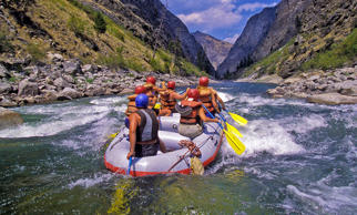 Rafting the Middle Fork of the Salmon River in Idaho.