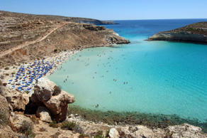 "The ""Spiaggia dei Conigli"" or Rabbit Beach in Lampedusa, Italy."