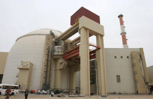 An exterior view of the Bushehr nuclear reactor site in the south of Iran, April 3, 2007.