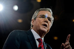 Governor Jeb Bush on February 27, 2015, in Oxon Hill, Maryland.