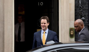 Britain's Deputy Prime Minister and leader of the Liberal Democrats party Nick Clegg.