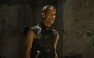 "Greyworm, leader of child soldier army called the ""Unsullied."""