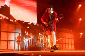 Angus Young of AC/DC performs at the 2015 Coachella Music and Arts Festival on Friday, April 10, 2015, in Indio, Calif.  Scott Roth/Invision/AP Photo