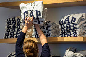 A customer browses sweatshirts at a Gap Inc. store in San Francisco, California. David Paul Morris/Bloomberg