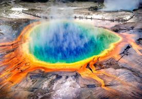 Grand Prismatic Spring, Midway Geyser, Yellowstone