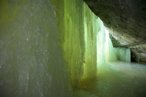 Interior of Eben Ice Falls Upper Peninsula MI