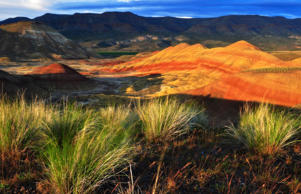 Sunset at the Painted Hills area of the John Day Fossil Beds National Monument, Oregon.