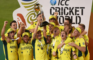 Australia celebrate their World Cup final victory