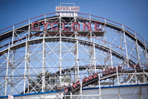 The Cyclone roller coaster is seen on the Coney Island Boardwalk in New York in this August 26, 2011 file photo.