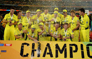 Australia celebrate World Cup win