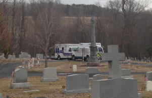 Throop PD confirms a 74yo man was killed when a headstone fell on him at St Joseph Cemetery