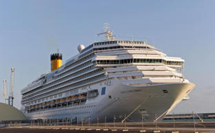 The Costa Concordia ship in Civitavecchia, Rome, in 2009.