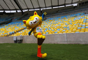 File picture of the mascot of the Rio 2016 Olympic Games.