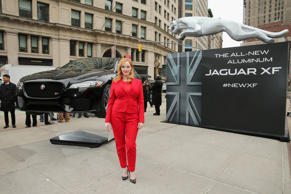 Christina Hendricks Unveils New Jaguar