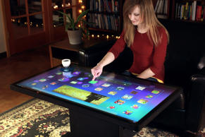 Android OS multi-touch coffee table.