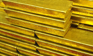 Gold bars are seen at the Czech Central Bank on September 05, 2011 in Prague. Michal Cizek/AFP/Getty Images