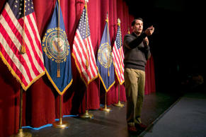 Governor Scott Walker (R-WS) speaks at a Republican organizing meeting in Concord, New Hampshire, March 14, 2015.