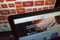 The Etsy Inc. website is displayed for a photograph in Tiskilwa, Illinois, U.S., on Tuesday, Jan. 20, 2015.