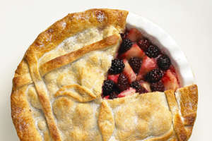 Blackberry and apple pie.