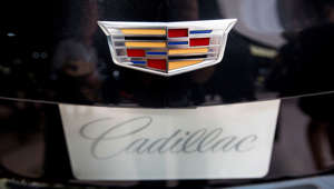 The General Motors Co. (GM) logo is seen on the 2016 Cadillac CT6 luxury sedan displayed during the 2015 New York International Auto Show in New York, U.S., on April 1, 2015.