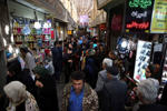 Iranians make their way in Tajrish bazaar northern Tehran, Iran, Tuesday, March 31, 2015. (AP Photo/Vahid Salemi)