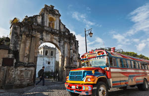 Colonial Antigua and the colourful chicken bus: classic Guatemala.