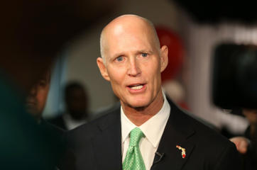 Florida Governor Rick Scott on January 23, 2015, in Miramar, Florida.