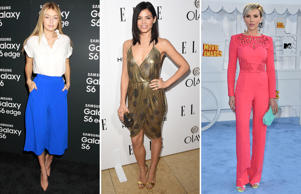 While some old classics like the polka dots and jumpsuits are back in action, metallic and culottes are some styles to watch out this summer. Click through to take a look at how the celebrities have been sporting some of these hot styles lately.