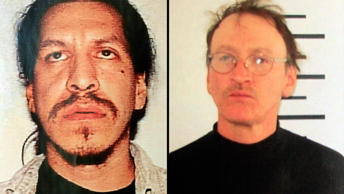 Booking photos for (from left) Anthony Barnaby and David Caplin.