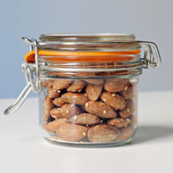 Nuts don't just contain healthy fats to help keep your cholesterol low - they are also good sources of appetite-killing fiber, which digests slowly so it stays in your stomach much longer than other carbohydrates. A quarter-cup of almonds, for example, contains four grams of fiber.