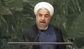 Iranian President Hassan Rouhani at the United Nations in New York City, September 25, 2014.