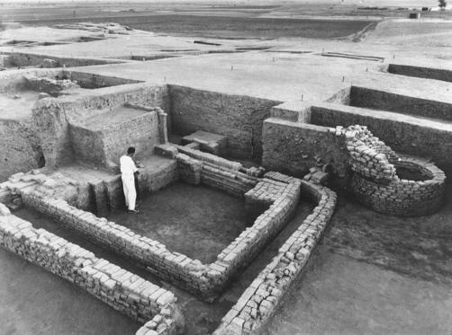 The site, discovered in 1945, is the remains of a city of the Indus Valley civilization dating from 2400 to 1900 B.C.