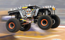 Monster truck driver nails insane double back flip