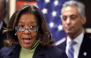 Chicago Public Schools CEO Barbara Byrd-Bennett speaks at a news conference in Chicago on Oct. 12, 2012.