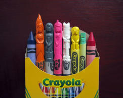 The crayon art of Hoang Tran, Sunnyvale, California, America - 20 Mar 2015 Adventure Time characters FULL COPY: http://www.rexfeatures.com/nanolink/q59h  A former trainee dentist has put his steady hands to colourful use with stunning sculptures carved from CRAYONS.  Hoang Tran, 30, from Sunnyvale, California, spends hours creating intricate reproductions of pop culture characters using his dental tools.  His subjects range from the iconic yellow boiler suits of Breaking Bad to a tiny gallery of Star Wars characters.  He has also captured likenesses of Winnie the Pooh and friends, the cast of South Park, the Simpsons and even the crests of the families from Game of Thrones.