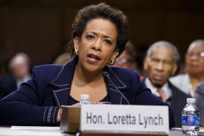 In this Jan. 28, 2015 file photo, Attorney General nominee Loretta Lynch testifies on Capitol Hill in Washington.