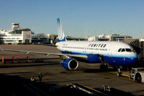 A United Airlines plane sits on the tarmac at Denver International Airport in Denver.