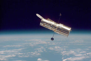 This photograph of NASA's Hubble Space Telescope was taken on the second servicing mission to the observatory in 1997.