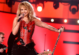ARLINGTON, TX - APRIL 19:  Honoree Miranda Lambert performs onstage during the 50th Academy Of Country Music Awards at AT&T Stadium on April 19, 2015 in Arlington, Texas.  (Photo by Kevin Winter/ACM2015/Getty Images for dcp)