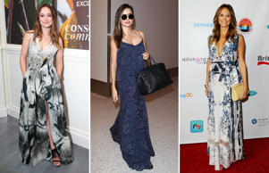 The comfortable silhouette of the maxi dress makes it an obvious choice during the summers. Click through to take a look at how celebrities like Olivia Wilde, Miranda Kerr and Stacy Keibler have styled their looks.