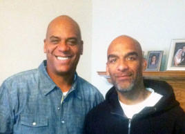 Eric Harris (right) poses with his brother Andre.