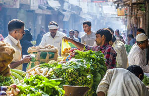 Delhi food market, India (Shutterstock)