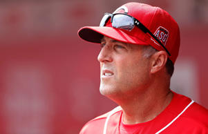 Cincinnati Reds manager Bryan Price looks on during the game against the Pittsburgh Pirates at Great American Ball Park on April 9, 2015 in Cincinnati, Ohio.
