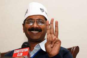 Delhi Chief Minister Arvind Kejriwal at a press conference in New Delhi.
