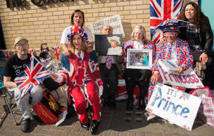 Royal 'superfans' await the birth