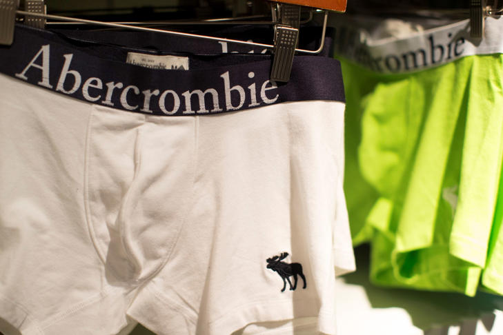 Underwear for sale at an Abercrombie & Fitch store in Pasadena, Calif.