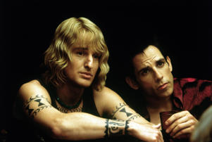 "**FOR USE WITH AP LIFESTYLES**   This undated photo provided by Paramount Home Entertainment shows Owen Wilson, left, and Ben Stiller during a scene from ""Zoolander."" Zoolander is a 2001 movie starring Ben Stiller and Owen Wilson that parodies the fashion and modeling businesses.     (AP Photo/Paramount Home Entertainment)   **NO SALES**"