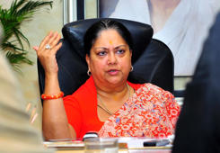 RSS shows red card to Raje