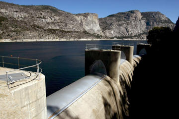 Hetch Hetchy reservoir in Yosemite National Park in 2013.