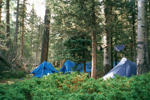 FILE - A campsite at Philmont Scout Ranch, N.M. Ira Dreyfuss/AP